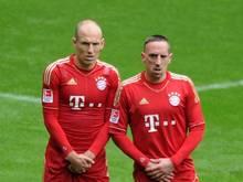 Arjen Robben (l.) und Franck Ribery: In München Teamkameraden, international Gegner