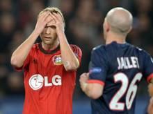 Das Team von Bayer Leverkusen ist in der Champions League an Paris St. Germain gescheitert. Foto: Federico Gambarini