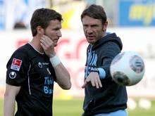 Münchens Interims-Trainer Markus von Ahlen (r.) mit Benjamin Lauth