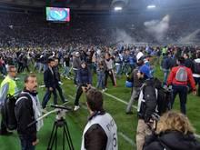 Neapels Fans hatten beim Pokalfinale für einen Skandal gesorgt. Foto: Ettore Ferrari