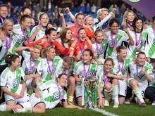 Die Wolfsburgerinnen wollen in der Champions League den Titel verteidigen. Foto (2013): Federico Gambarini Foto: Federico Gambarini