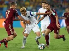 Son Heung Min (M.) war gegen Russland der bestes Mann bei den Südkoreanern