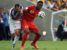 Divock Origi (r.) erzielte den Siegtreffer für die Belgier