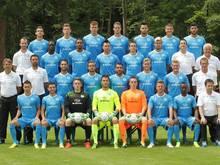Die Mannschaft der Stuttgarter Kickers freut sich auf die erste Runde gegen Vizemeister und -pokalsieger Dortmund