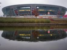 Die Donbass-Arena in Donezk wurde schwer beschädigt.