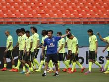 Trainer Dunga startet mit Brasiliens Nationalmannschaft den Neuanfang