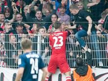 Sebastian Polter (r.) erzielte beide Treffer für Union Berlin