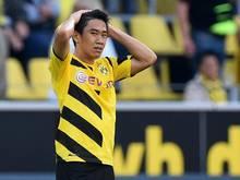 Dortmunds Shinji Kagawa hat sich eine Kopfverletzung zugezogen