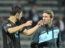 Trainer Markus von Ahlen (r.) will die Münchner Löwen kontinuierlich weiterentwickeln