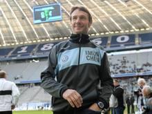 1860-Coach Markus von Ahlen will im DFB-Pokal gegen Freiburg sich auch für den Liga-Alltag Selbstvertrauen holen. Foto: Lukas Barth