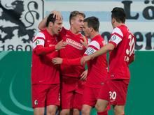 Erstligist SC Freiburg ist eine Runde weiter. Foto: Sven Hoppe