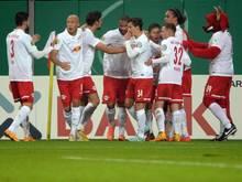 Leipzig dreht das Spiel nach spätem Ausgleich. Foto: Hendrik Schmidt