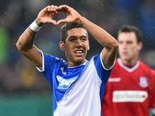 Roberto Firmino ist der überragende Akteur beim Hoffenheim-Sieg. Foto: Uwe Anspach