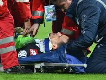 Jens Grahl hat sich im Pokalspiel gegen den FSV Frankfurt keine schwere Kopfverletzung zugezogen. Foto: Uwe Anspach