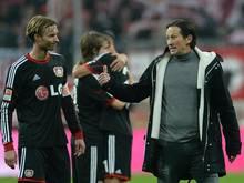 Bayer-Trainer Roger Schmidt strebt mit seinen Leverkusenern den Gruppensieg an