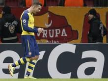 Lukas Podolski machte mit zwei Toren für Arsenal wieder auf sich aufmerksam. Foto: Tolga Bozoglu