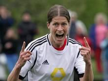 Kerstin Garefrekes hat das zwei Tore zum 3:1-Sieg der Frankfurterinnen erzielt