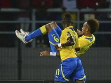 Pierre-Emerick Aubameyang führte Gabun mit seinem Treffer zum Auftaktsieg