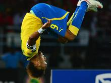 Pierre Aubameyang jubelte mit einem Salto