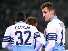 Miroslav Klose erzielte seinen fünften Saisontreffer. Foto: Maurizio Brambatti