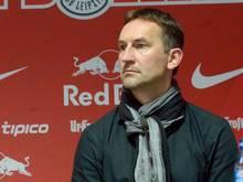 Von Achim Beierlorzer wird erwartet die Partie von RB Leipzig gegen den FSV Frankfurt nicht zu verlieren