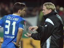 Hoffenheims Trainer Markus Gisdol und Stürmer Kevin Volland analysieren das Spiel