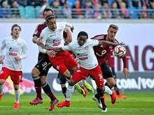 Umkämpftes Spiel in Leipzig