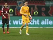 Raphael Schäfer musste in der Pause verletzt ausgewechselt werden