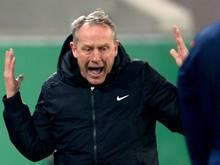 Freiburgs Trainer Christian Streich regte sich mächtig auf
