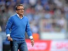 Bielefelds Trainer Norbert Meier hofft auf die Pokalsensation gegen Wolfsburg