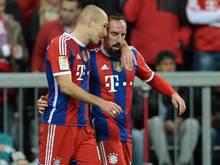 Mit ArjenRobben und Franck Ribéry fehlt den Bayern ihr Top-Duo