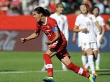 Christine Sinclair rettete Kanada im Eröffnungsspiel