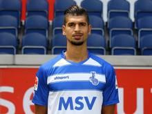 Enis Hajri vom MSV Duisburg verletzte sich kurz vor dem Anpfiff