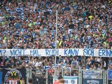 MSV-Fans zeigten ein Banner mit der Aufschrift: «2011? Selbst Rudi kann sich nicht erinnern!»