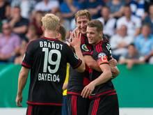 Bayer Leverkusen hat die Pflichtaufgabe SF Lotte problemlos bewältigt