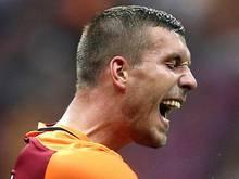 Lukas Podolski hatte den Ausgleich für Galatasaray mehrere Male auf dem Fuß