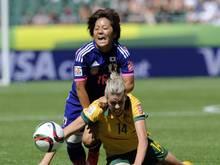 Die Japanerin Mana Iwabuchi verletzte sich am rechten Knie