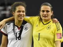 Nadine Angerer und Celia Sasic werden am Donnerstag feierlich verabschiedet