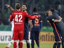 Werder Bremen steht im Pokal-Viertelfinale
