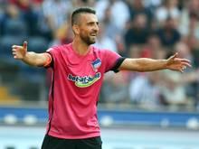 Hertha-Stürmer Vedad Ibišević schoss gegen Frankfurt zwei Tore