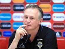 Nationaltrainer Michael O'Neill kann mit Nordirland die Playoffs der WM-Qualifikation erreichen