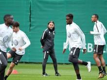 Martin Schmidt bei seinem ersten Training als Wolfsburg-Trainer