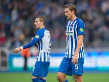 Hertha muss vorerst auf Niklas Stark (r.) verzichten