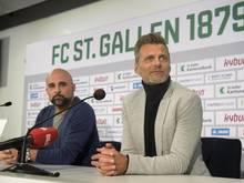 Alain Sutter (r) ist neuer Sportchef des FC St. Gallen.
