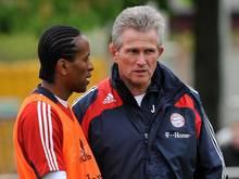 Arbeiteten einst beim FC Bayern zusammen: Zé Roberto (li.) und Coach Jupp Heynckes