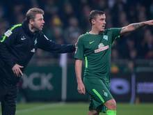 Lenker und Torjäger vereint: Werder-Coach Florian Kohlfeldt (l.) und Angreifer Max Kruse