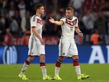 Standen einst für das DFB-Team gemeinsam auf dem Platz: Jonas Hector und Lukas Podolski