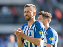 Stürmer Vedad Ibisevic möchte seinen bis 2019 laufenden Vertrag bei Hertha BSCerfüllen