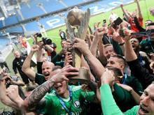 Legia Warschau feiert die Meisterschaft