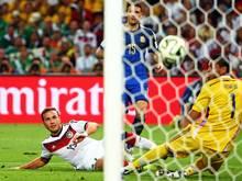 Soll in Deutschland versteigert werden: Das Tor, in das Mario Götze 2014 1:0-Siegtreffer einschoss